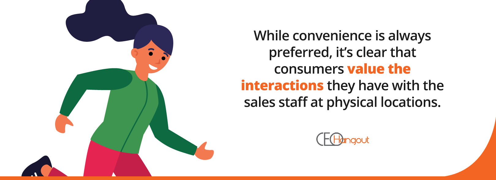 physical interactions with sales staff